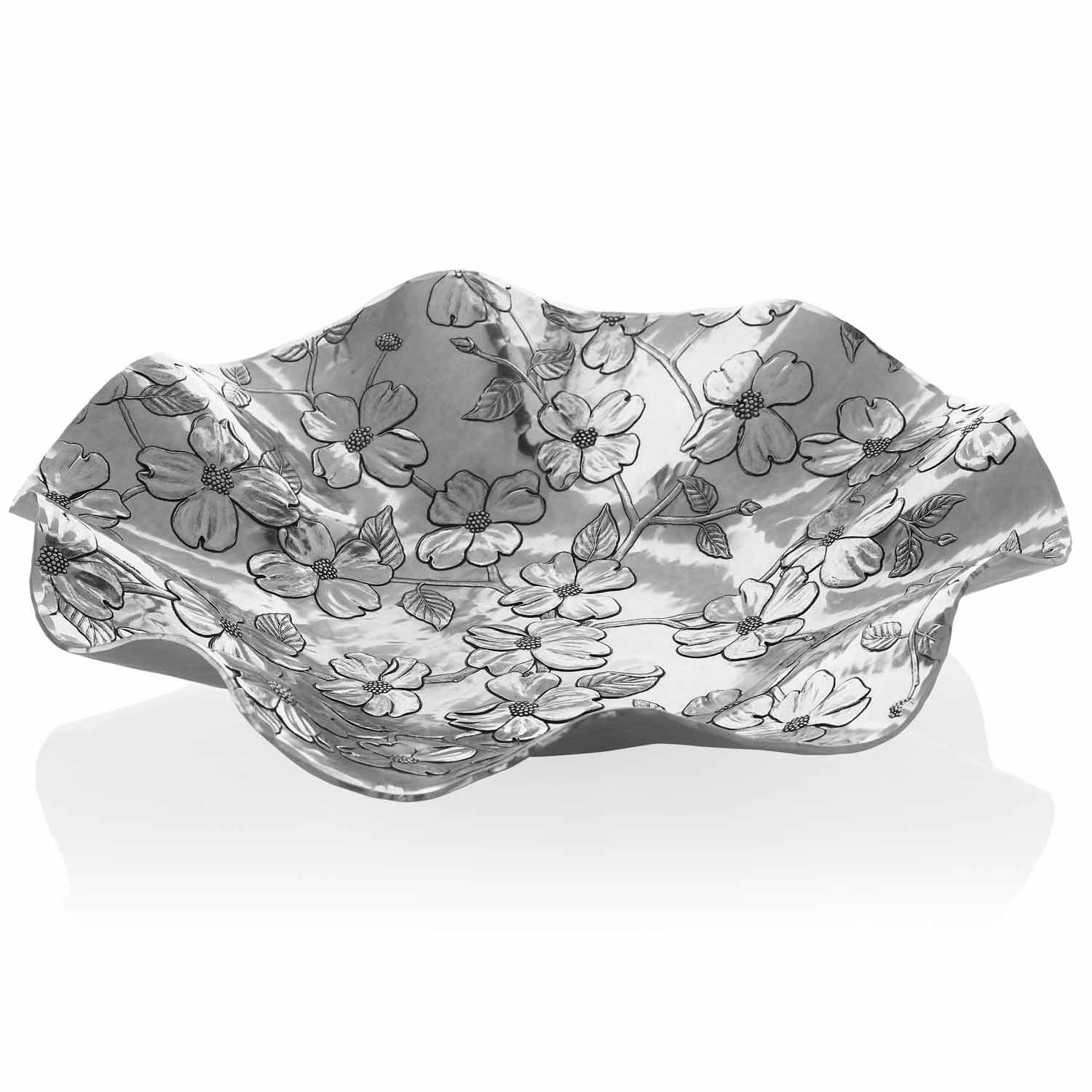 Wendell August Forge Dogwood St. Helena Bowl, Silver