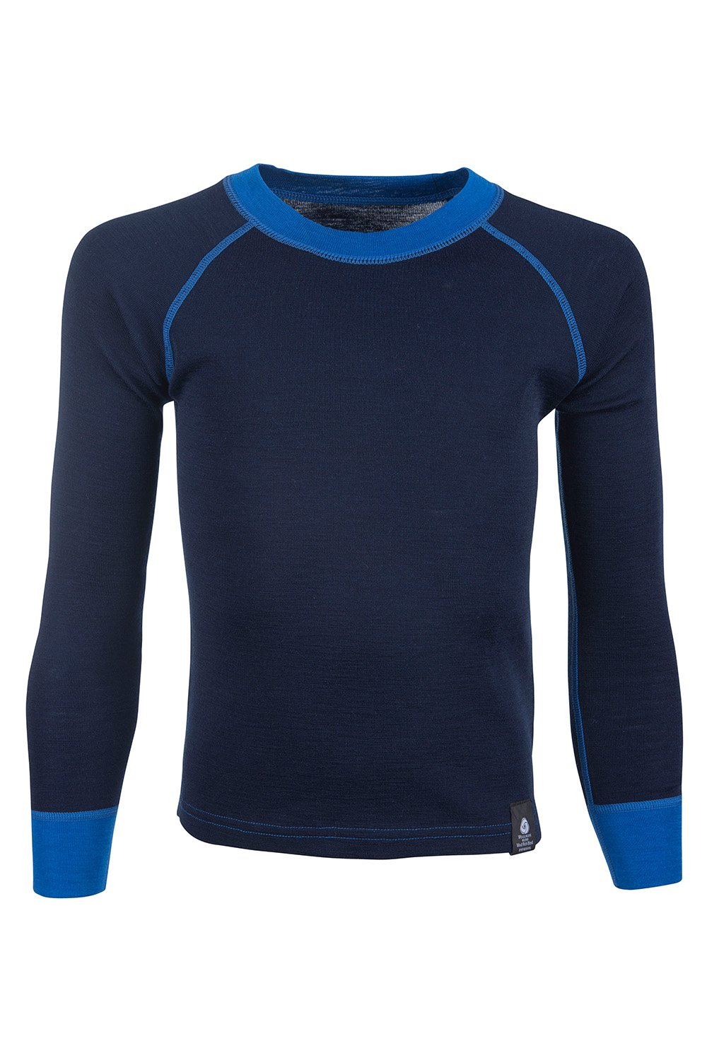 Mountain Warehouse Merino Kids Top -Breathable, Fast Dry Childrens Tee Blue 9-10 Years