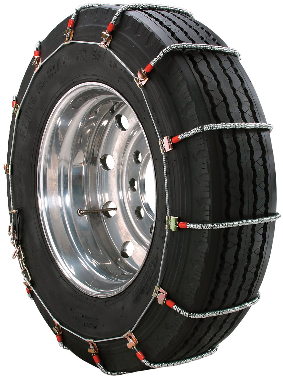 Security Chain Company TA1947 Alloy Radial Heavy Duty Truck Singles Tire Traction Chain - Set of 2