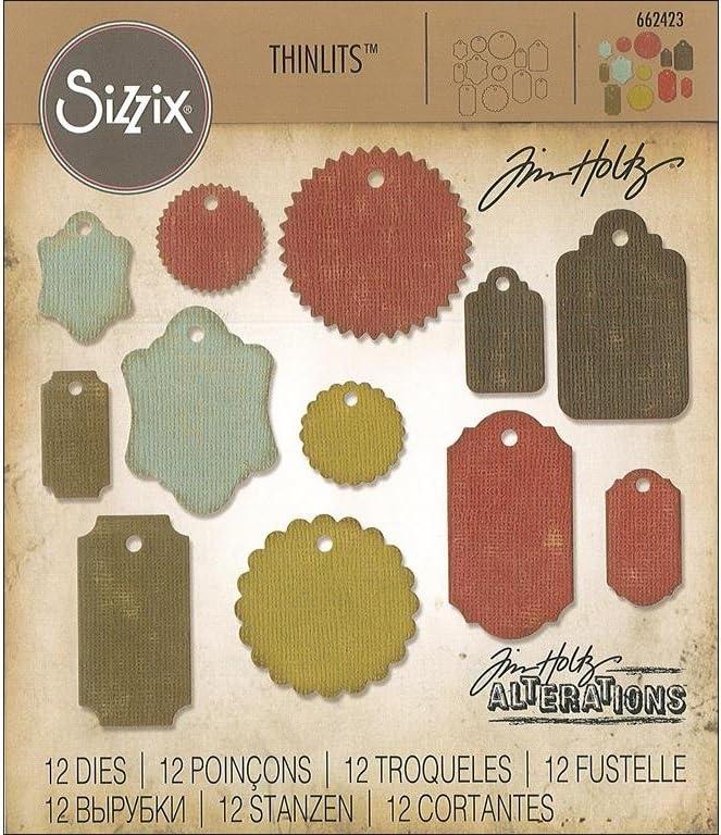 Sizzix Framelits Dies By Tim Holtz 8//Pkg-Tag Collection 658784