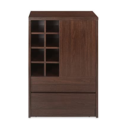 Denver BAR Cabinet Medium DK Walnut