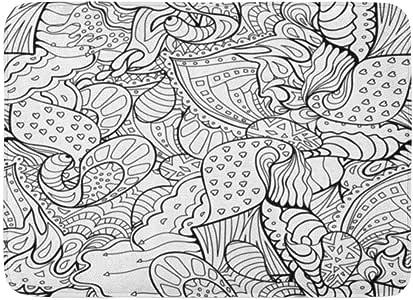 Rongpona Alfombrilla de baño Artístico Doodle Libro para