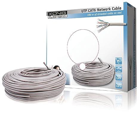 K/önig CMP-FTP6R50S Cable Ethernet de 50 metros gris