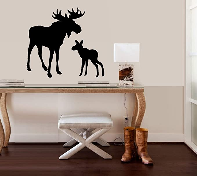 Stickers Decal Moose Female Cow 20 09216