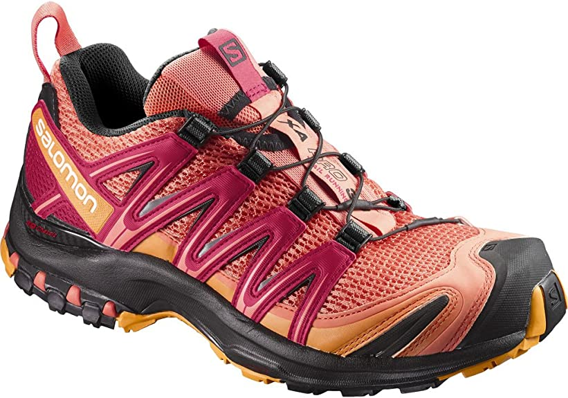 Salomon XA Pro 3D W, Zapatillas de Running para Mujer, Naranja (Living Coral/Black/Virtual Pink), 36 2/3 EU: Amazon.es: Zapatos y complementos