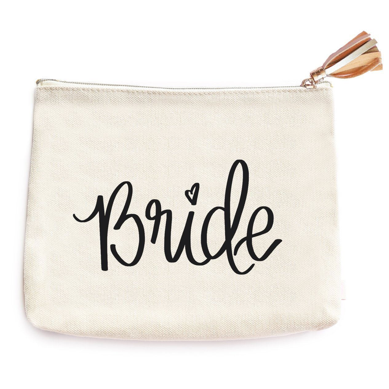 Bride Canvas Makeup Bag | Wife Accessories Miss To Mrs Make-Up Holder Cosmetic Organizer Engagement Gift for Her Travel Toiletry Case Hand Lettered