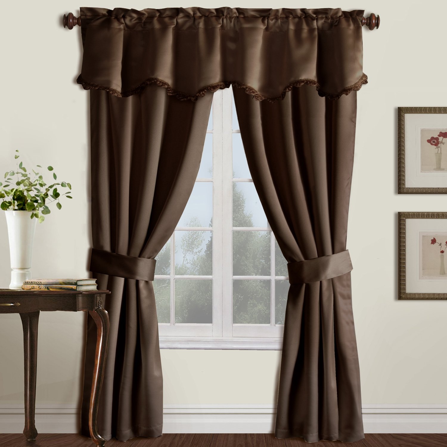 Amazon.com: United Curtain Burlington Blackout Window Curtain Five Piece  Panel Set, 52 By 84 Inch, Burgundy: Home U0026 Kitchen