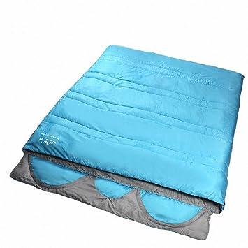 SUHAGN Saco de dormir Piscina Exterior Camping Camping Bolsas De Dormir En Tres Sobres Grandes De Algodón Tipo 4, Azul 3 Días: Amazon.es: Deportes y aire ...