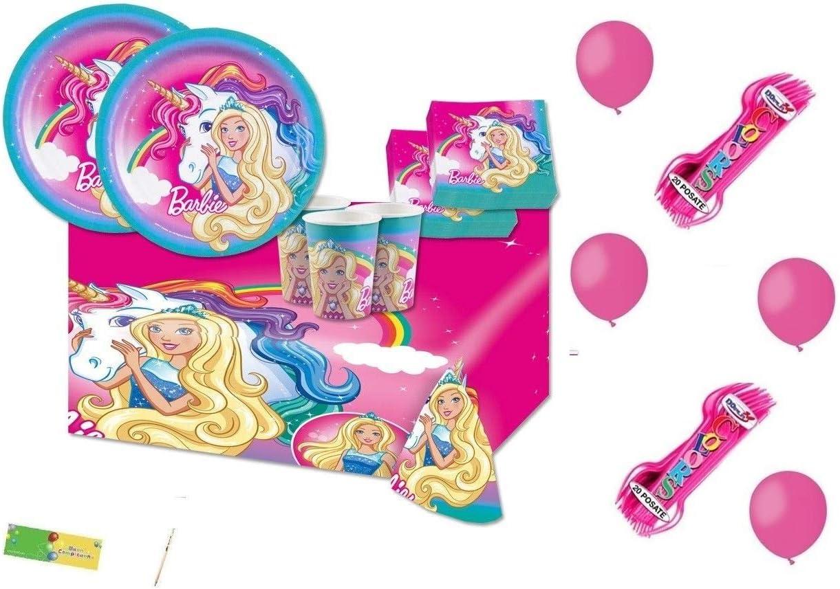 Festone Happy Birthday 200 x 15 cm Barbie Dreamtopia