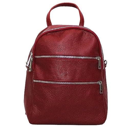 Chapeau-tendance - Mochila Piel Rojo - -Mujer: Amazon.es: Zapatos y complementos