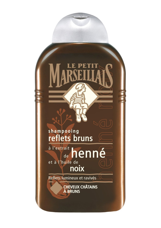 Le Petit Mars illais Champú con Henna y aceite de nuez para pelo marrón 250ml Le Petit Marseillais