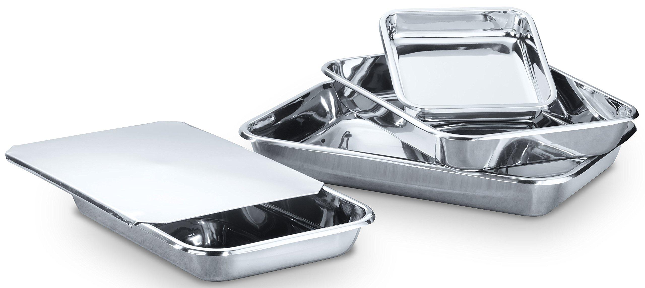 Hammer Stahl MI-138 Rectangular Bake Set Bakeware, Stainless Steel