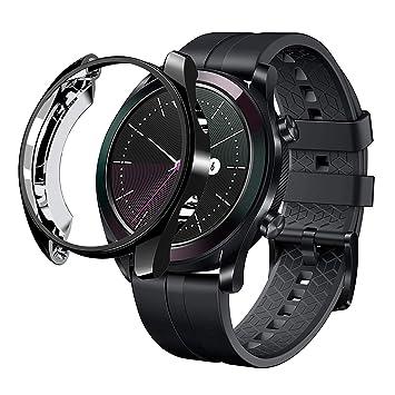 sciuU Funda para Huawei GT Elegant 42 mm, Carcasa Protectora para Huawei GT Active Smart Watch, Flexible Suave TPU Protectora Resistente a los Golpes ...