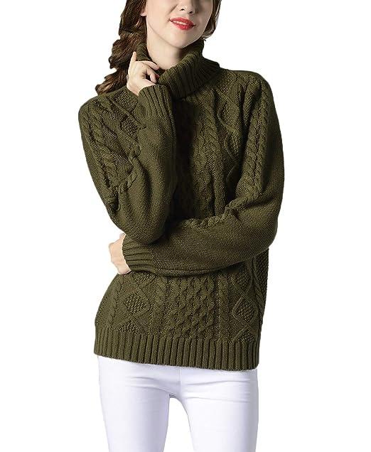 Lanceyy Pullover Punto Mujer Elegante Jerseys Invierno Cuello De Tortuga Pullover Sweater Camisas Caliente Color Sólido Sencillos Casuales Sudaderas Vintage ...