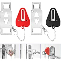 YGOCH Portable Door Lock 2 Pack Home Security, Upgraded Strong Multi Size Travel Lock for Additional Safety and Privacy…