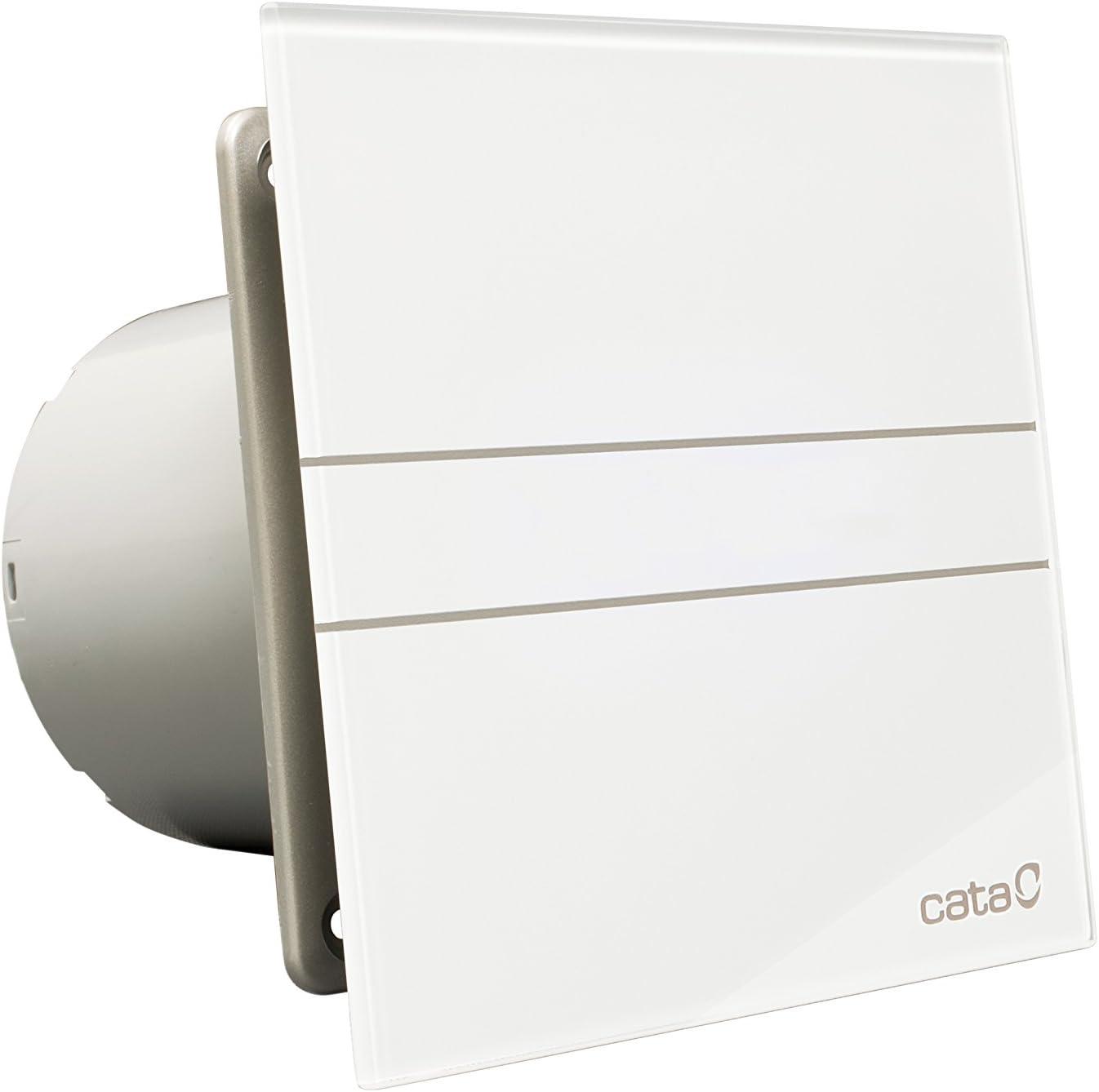 Cata | Extractor baño | Modelo e-150 G | Estractor de baño Serie e Glass | Ventilador Extractores de aire | Extractor baño silencioso | Extractor aire para baño | color blanco | 6 unidades