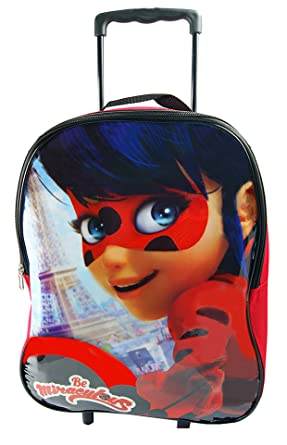Trolley Bag,Trolls & PJ Masks & Ladybugs Arch Trolley Bag,Official Licensed (