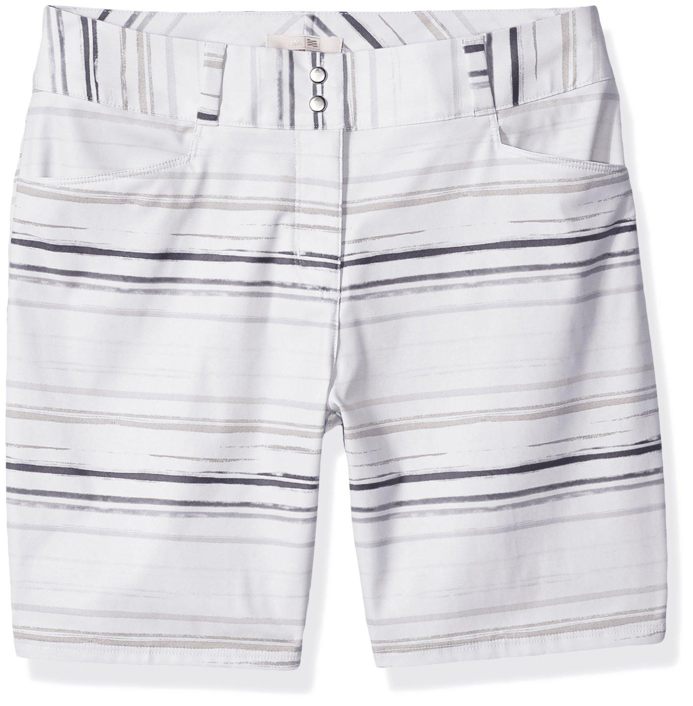 adidas Golf Women's Essentials Painted Stripe Shorts, White, Size 2