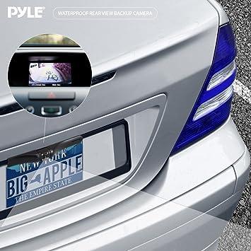 Amazon.com : PLCM17BC Placas de Monte Vista posterior de copia de seguridad de la cámara de marcha atrás / Parking, Distancia Líneas de escala, ...