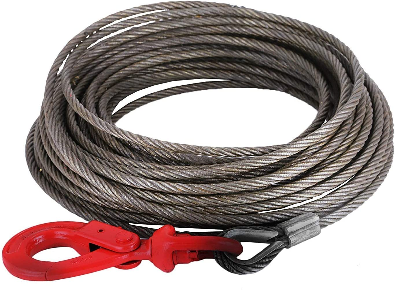 BA Products 4-38PS35S Winch Cable 3//8 x 35 Fiber Core with 3 Ton Swivel Hook
