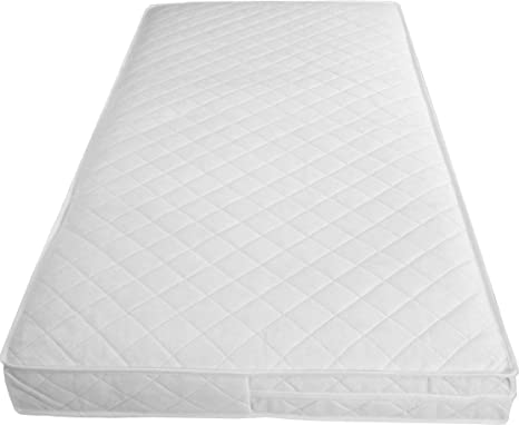 super cute 9112e 313a5 Mother Nurture Luxury Spring Cot Bed Mattress with Tape Edges 140x70x10cm  Thick (Fits Mothercare and Mamas & Papas Sizes)