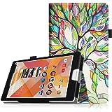 Fintie Medion Lifetab P8311 / P8312 / P8313 / P8314 / S8312 / S8311 Hülle Case - Folio Kunstleder Schutzhülle Tasche Cover Etui mit Ständerfunktion und Stylus-Halterung für MEDION LIFETAB P8311 (MD 99443) P8312 (MD 99334) / P8313 / P8314 (MD 99612) / S8312 (MD 98989) / S8311 (MD 98983) Tablet-PC (8 Zoll), Liebesbaum