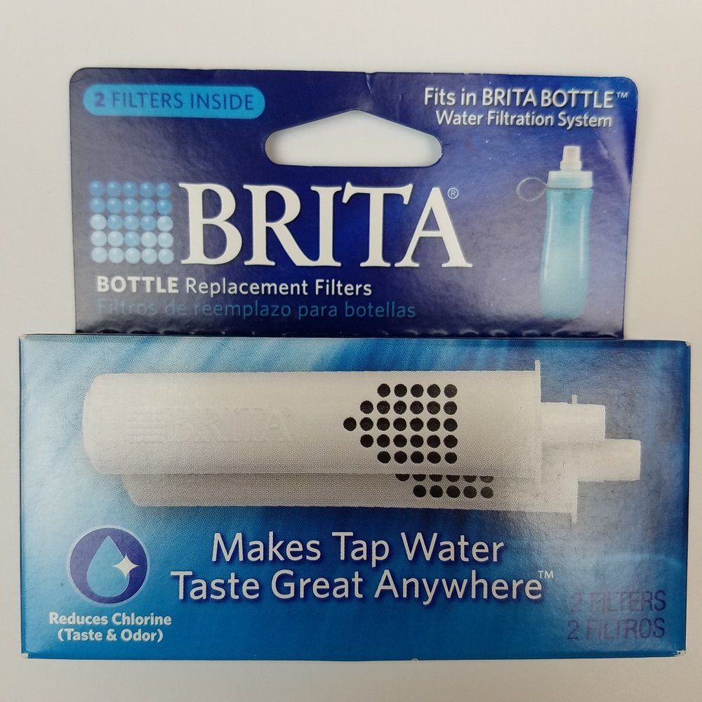 Brita BOTTLE-REPLACEMENT-FILTER Water Purifier Bottle Replacement Filter - 1 Package (2 Filters Total)