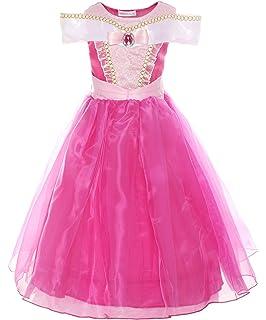 4996a9a3160 ReliBeauty Fille–Robe d Aurore pour enfant Costume de La Belle au Bois  Dormant