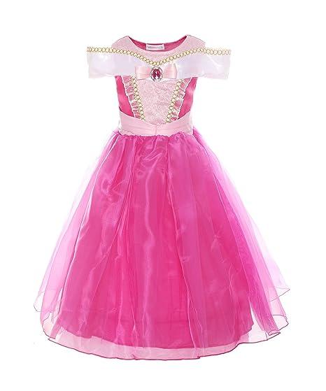 69d2c54ee87c1 ReliBeauty Fille–Robe d Aurore pour enfant Costume de La Belle au Bois  Dormant