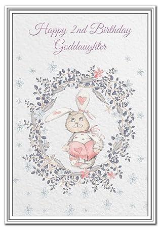 Happy 2nd Birthday Goddaughter Card