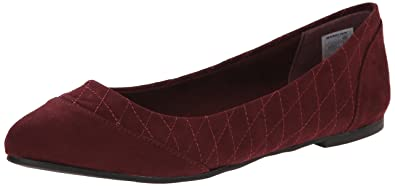 Rocket Dog Women's Rynna Coast Quilted Fabric Flat, Mulberry, ...
