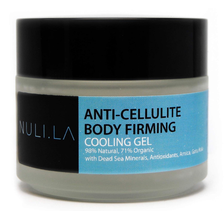 NULI LA Body Firming & Toning Gel, Anti-Cellulite Lotion, Dead Sea Minerals, Antioxidants, Gotu Kola, 98% Natural, 71% Organic, Vegan, Made in USA