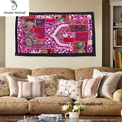 Amazon Com Indian Hand Embroidered Decorative Wall Art Wall Decor