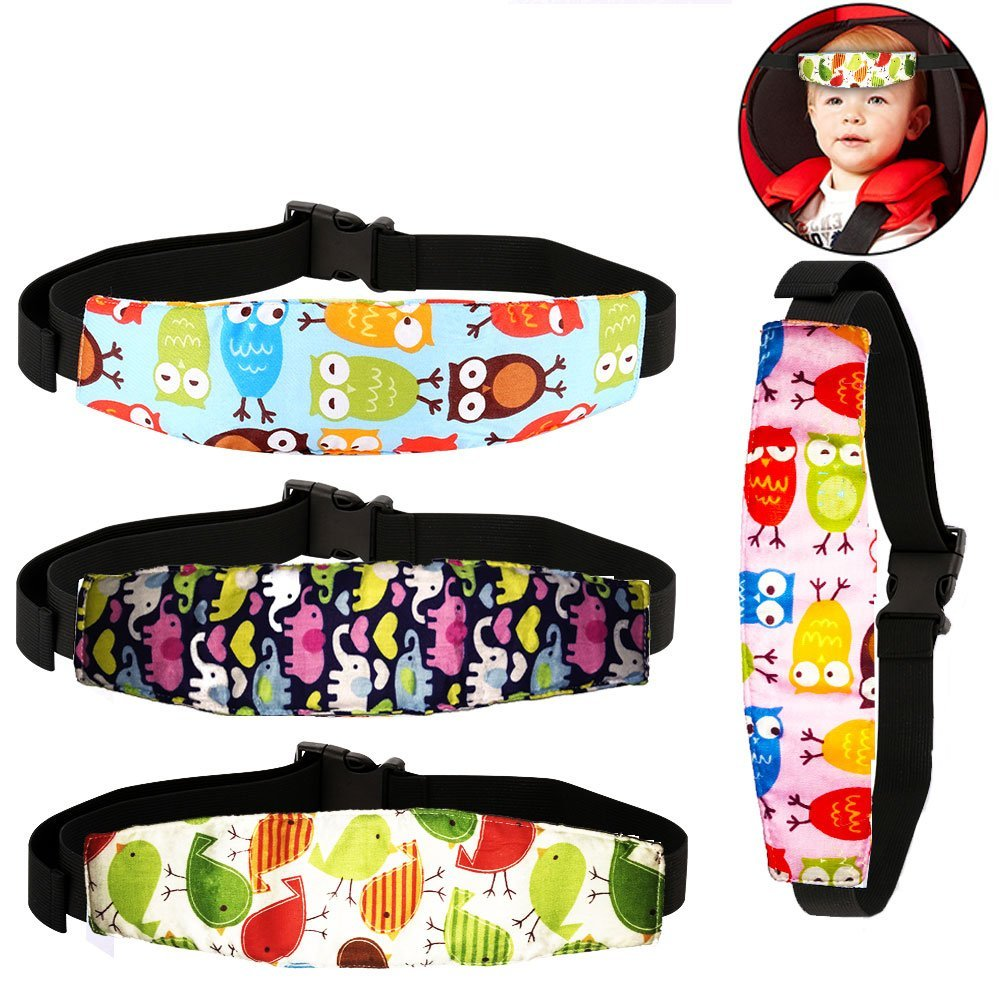 4 Pcs Infants and Baby Car Seat Head Strap by Atomcool, Safety Car Seat Neck Relief, Offers Protection and Safety for Kids Aize