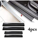 Fusion Graphix 4PCS Car Sticker Universal Anti-Scratch Door Sill Car Decal Car Sticker Decal (Black)