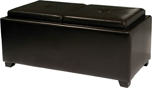 Christopher Knight Home Maxwell Leather Tray Ottoman