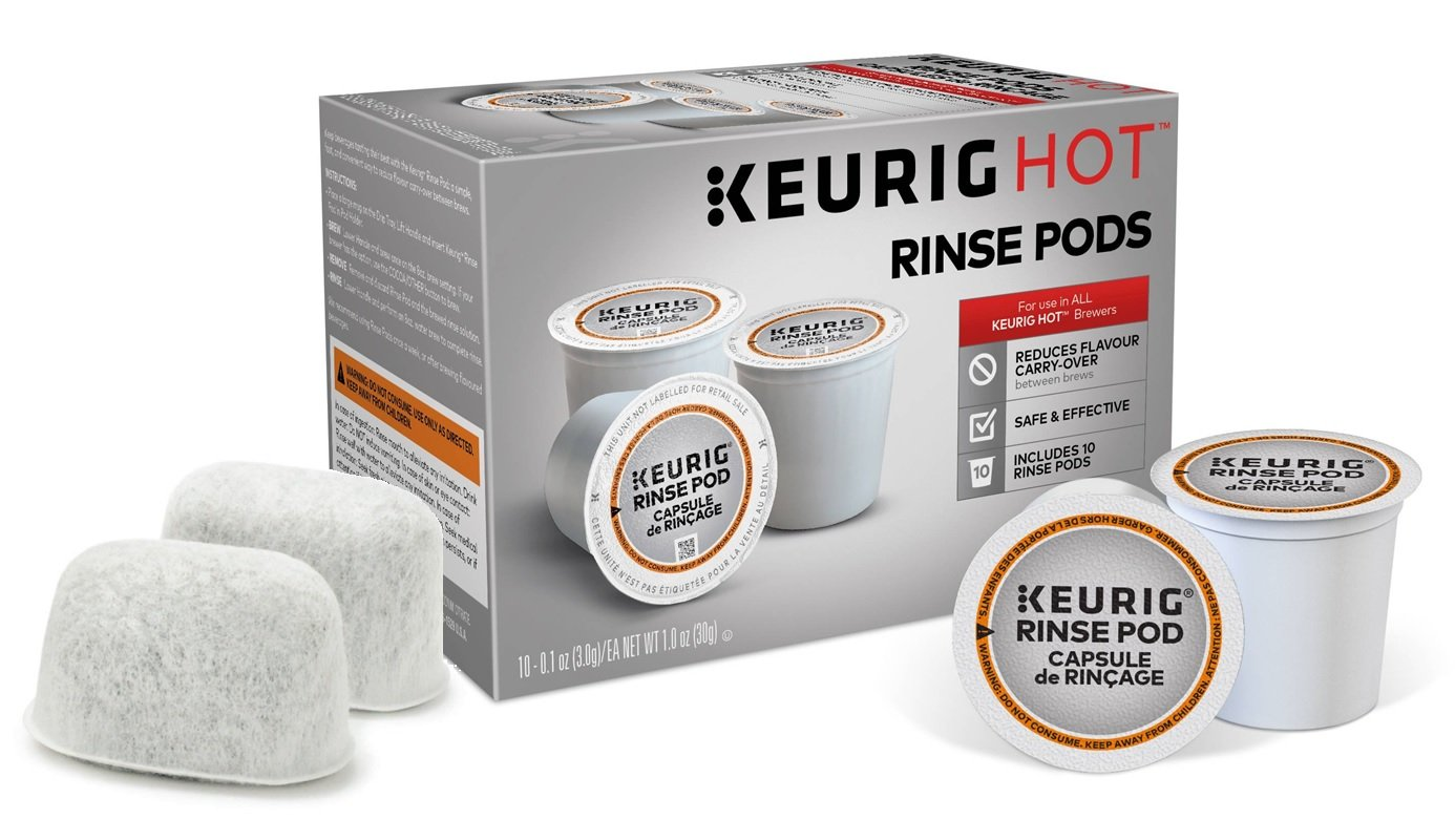 Descaling and Maintenance Kit for Keurig Brewers - Includes 10 Keurig Rinse Pods Plus 2 Replacement Filters
