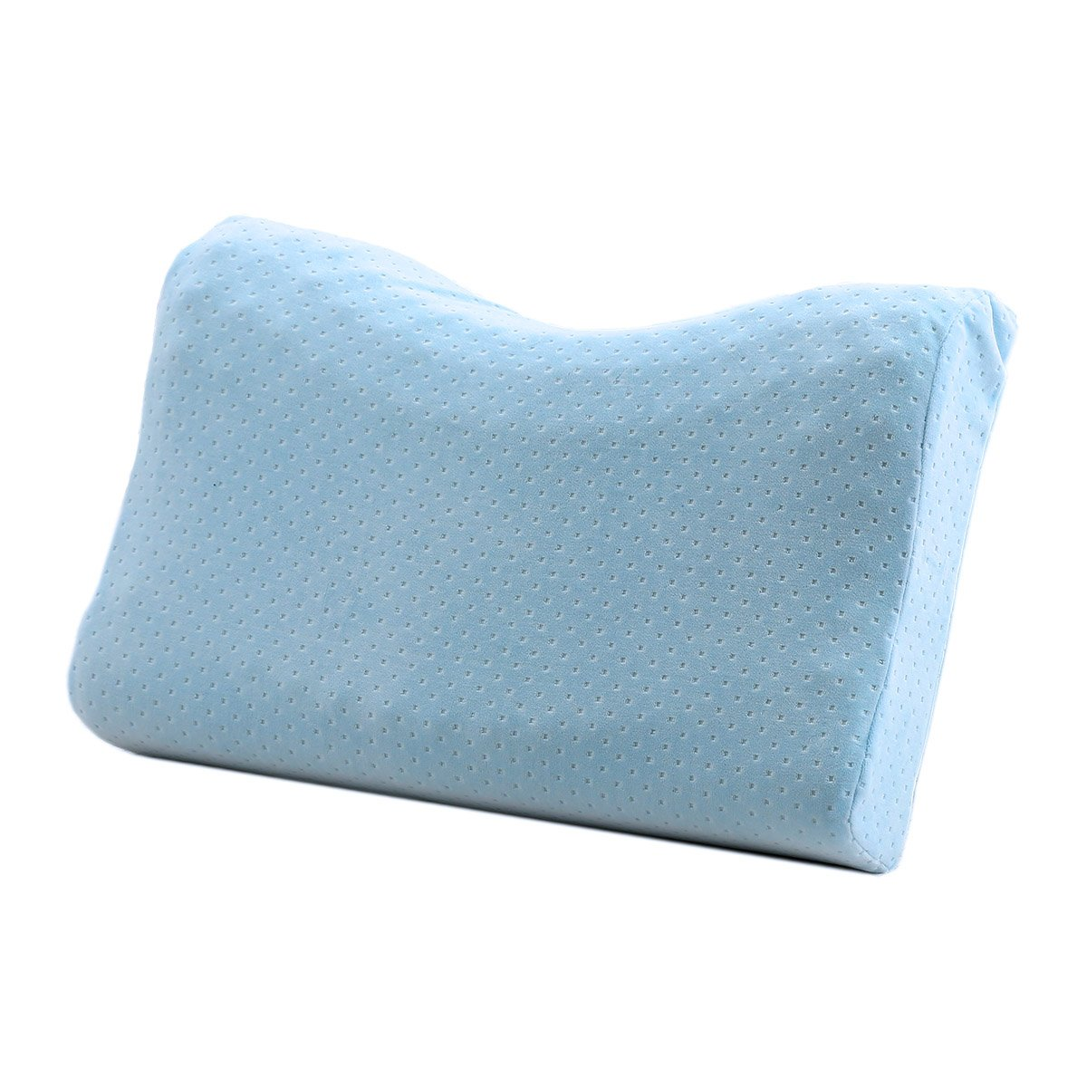 Crescent-Shaped Memory Foam Pillow | Cervical Support Pillow | Breathable Washable Cover | - Standard Size