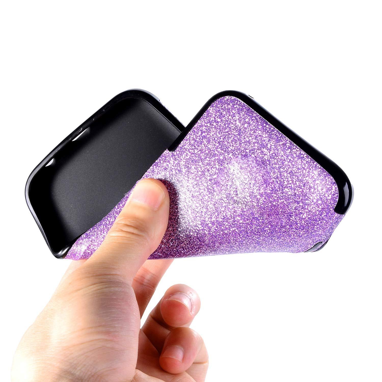 8 Plus Misstars Luxe Bling Glitter TPU Silicone Housse /Étui de Protection avec 360 Degr/és Rotation Papillon Anneau Support pour iPhone 7 Plus 5,5 Paillette Coque pour iPhone 7 Plus Rouge
