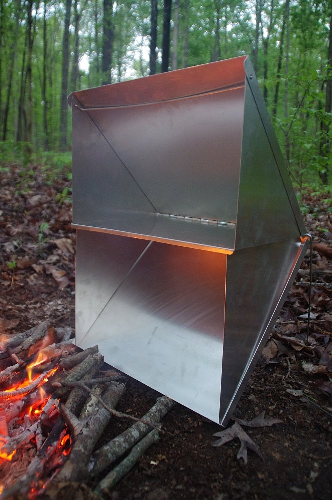 """Wisemen Trading Reflector Oven Aluminum/Stainless steel (Stainless steel, Folded it measures 13 1/4"""" X 13 1/2"""" x 3/4"""")"""