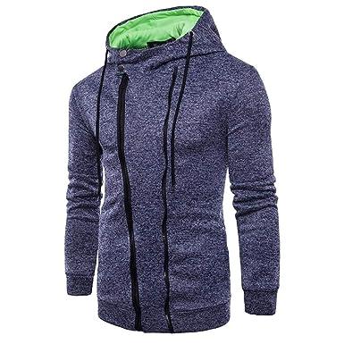 9846baa70037 ZIYOU Kapuzenpullover Herren, Langarm Hoodie Sweatshirt mit Reißverschluss Sport  Casual Sportshirt Kapuze Pullover  Amazon.de  Bekleidung