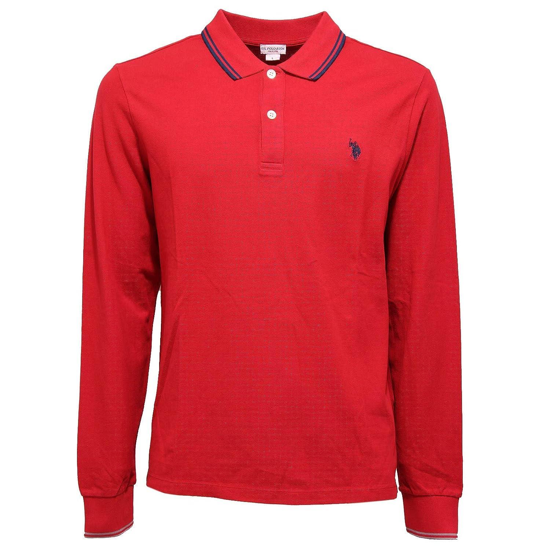 3970K Polo uomo U.S. POLO ASSN. Red Cotton t-Shirt Man [L]: Amazon ...