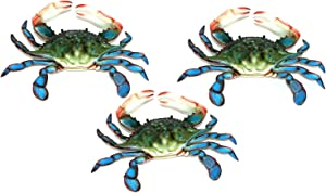 Charlotte International 6 inch Maryland Blue Crab Set of 3 Beach Tiki Bar Wall Decor