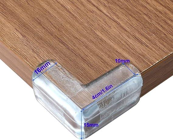 20 Pi/èces Protections dAngles,Transparent B/éb/é de S/écurit/é Anti-Chocs Protecteur de Coins avec Rebords Arrondis pour Tables et Tout Meubles Pointus,Souple Protections de Coins