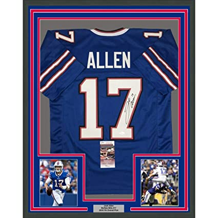 the best attitude 57a19 1abcd Framed Autographed/Signed Josh Allen 33x42 Buffalo Bills ...