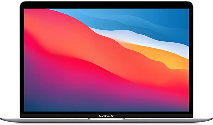 New Apple MacBook Air with Apple M1 Chip (13-inch, 8GB RAM, 256GB SSD Storage) - Silver (Latest Model)   Amazon