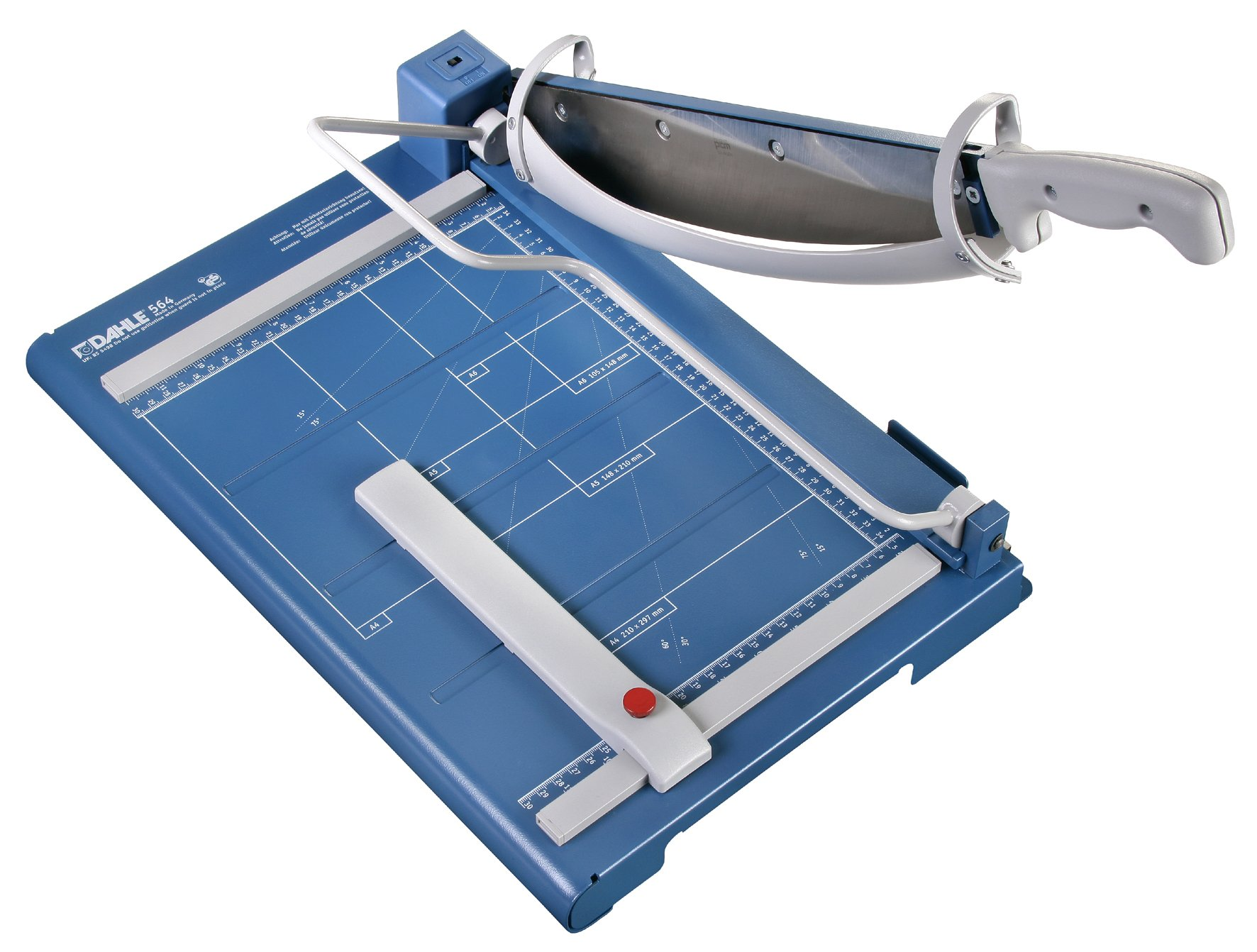 Dahle 564 Premium Guillotine Trimmer w/Laser Guide, 14-1/8'' Cut Length, 40 Sheet Capacity, Self-Sharpening, Automatic Clamp, w/Safety Guard by Dahle
