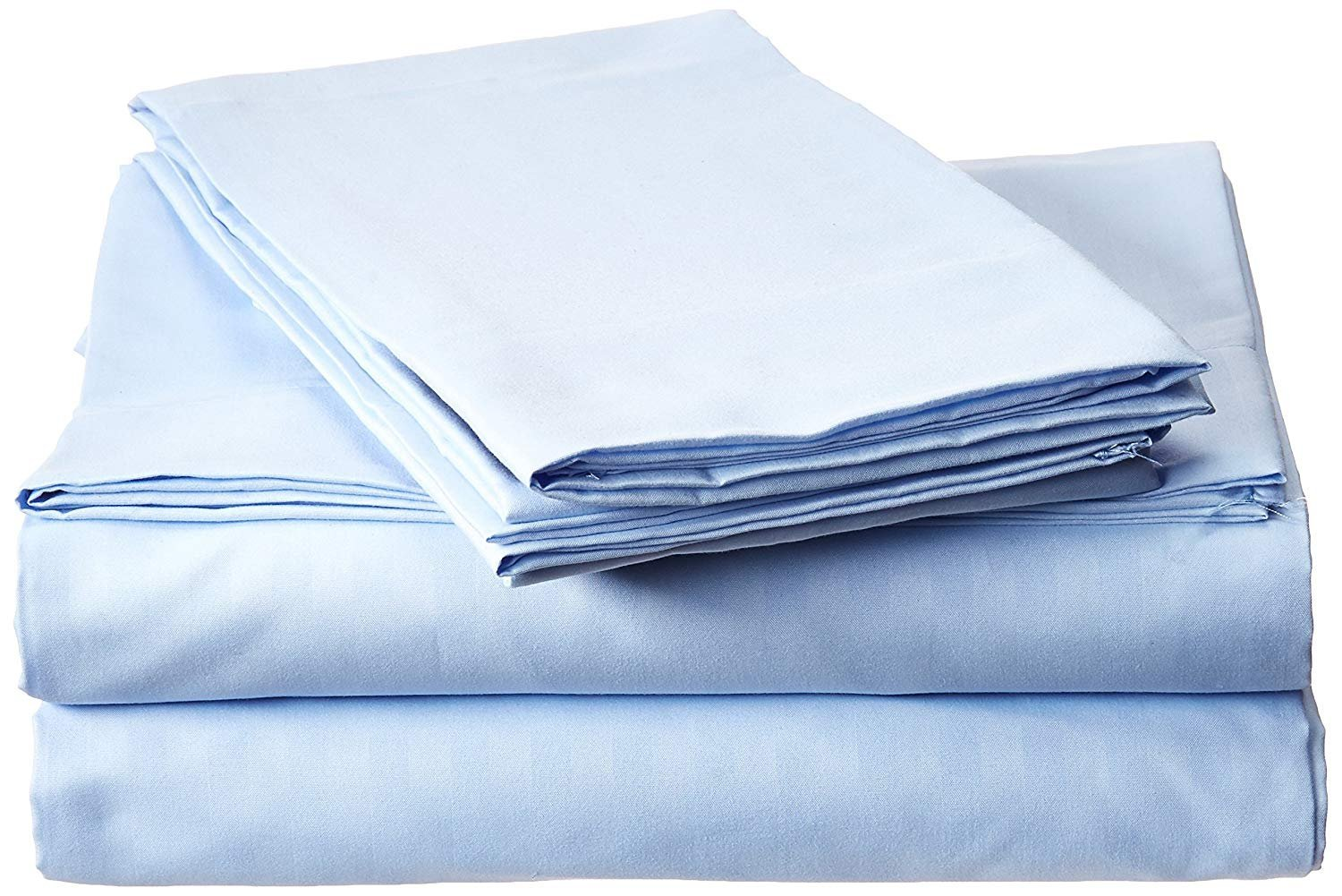 VEGAS HOTEL COLLECTION Great Sale King (78'' x 80'' ) Size 400-TC 100% Egyptian Cotton ''Light Blue Color'' 4-PC Sheet Set Fits Mattress 9'' inch Pocket Depth { Solid Pattern }