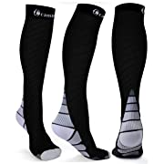 CAMBIVO Compression Socks for Women & Men, Fit for Running, Athletic Sports, Crossfit, Flight, Travel, Pregnancy, Nurses, Enhance Circulation & Speed-up Muscle Recovery (S/M, Gray)