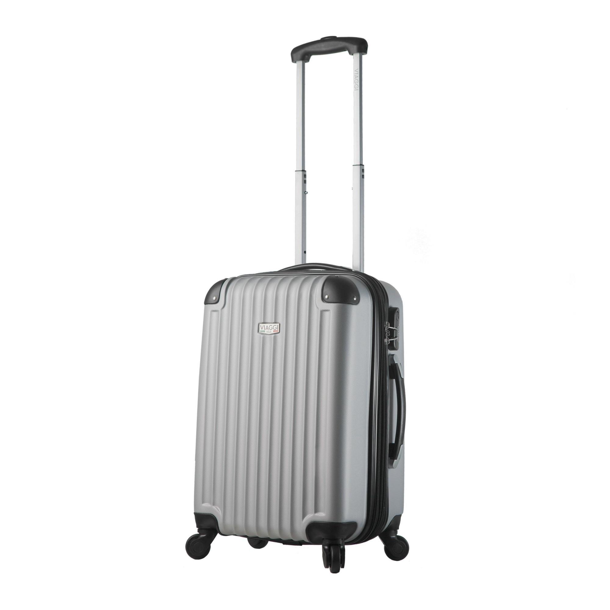 Viaggi Mia Italy Rovigo Hardside Spinner Large Carry-on - Silver